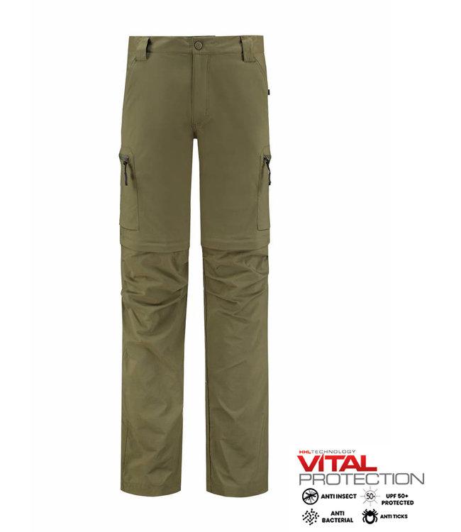 Life-Line Mekong Men's Zip Pants - Green