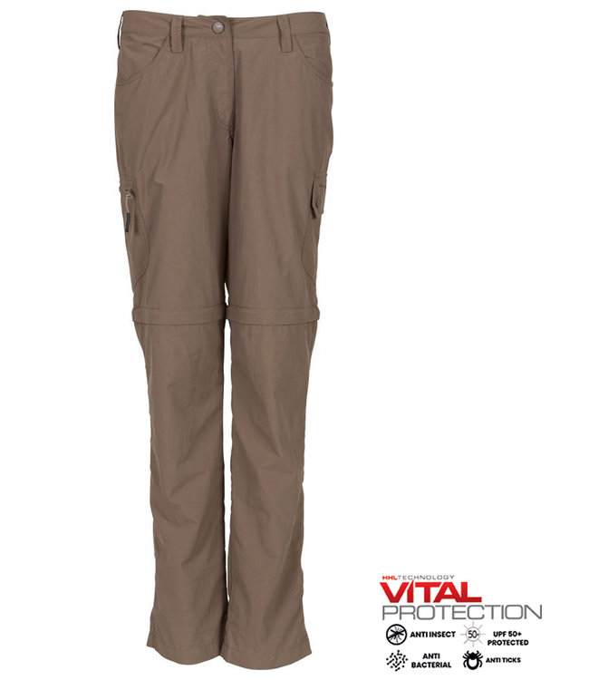 Life-Line Rumi Ladies zip off pants - Brown