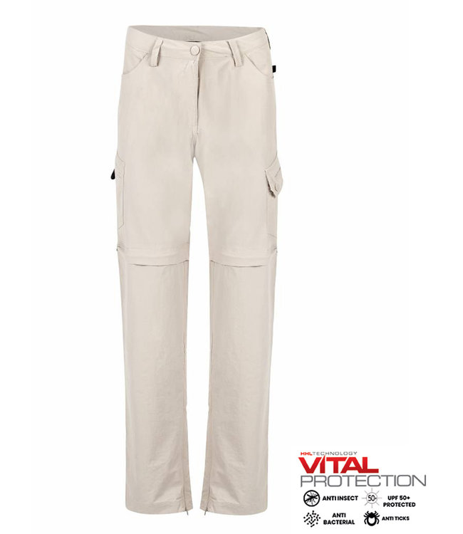 Life-Line Rumi Ladies zip off pants - Beige