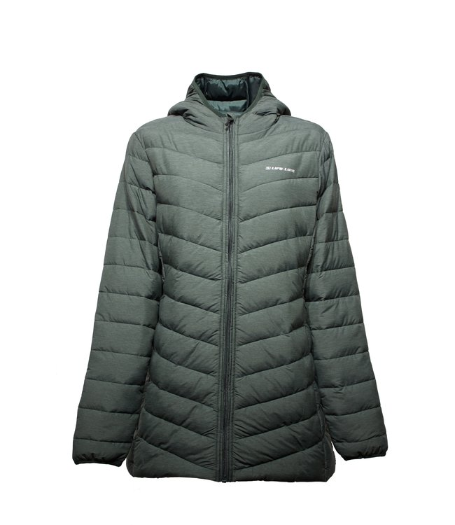 Life-Line Varzim Ladies Fake Down Jacket Green