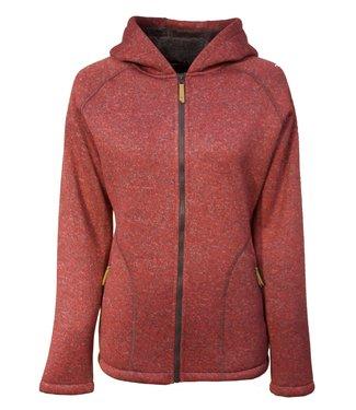 Life-Line Santa Dames Fleece Jas - Roze/Rood