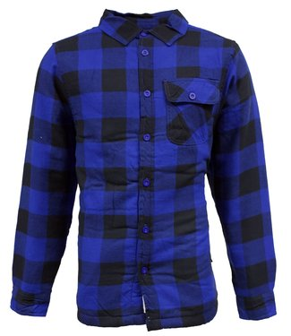 Life-Line Victor Heren Gevoerd Hemd - Blauw