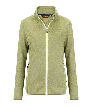 Life-Line Damar Damen Fleece Weste - Lime Melange