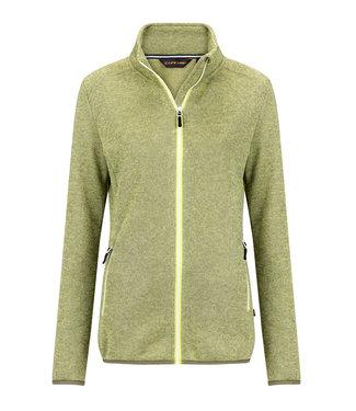 Life-Line Damar Ladies Fleece Vest - Lime Melange