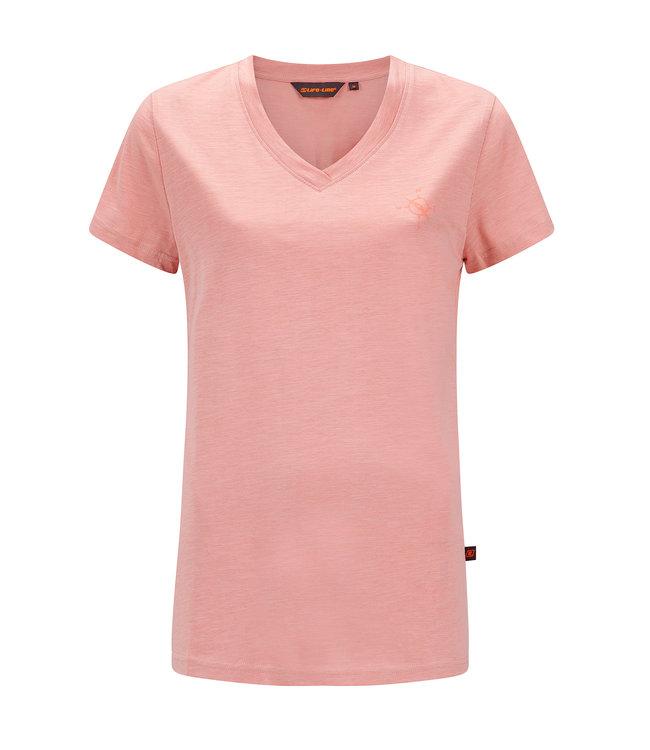 Life-Line Nicky Dames T-shirt - Licht Roze