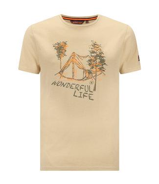 Life-Line Niels Heren T-shirt - Olijf