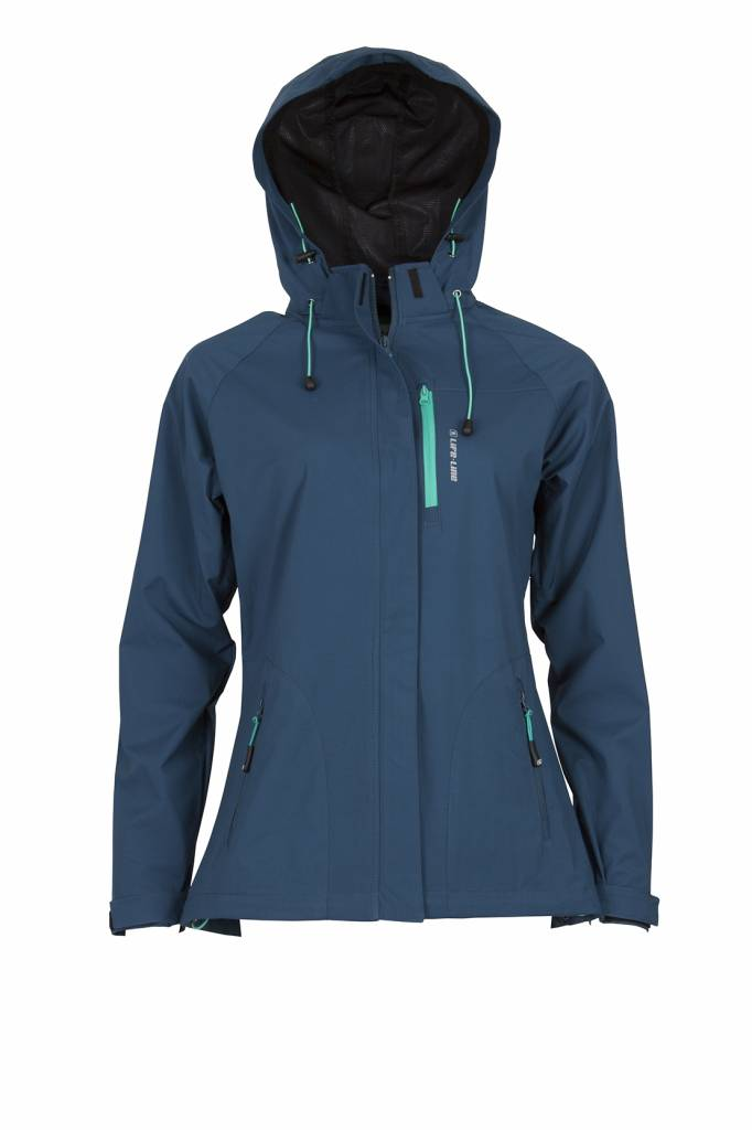 Dames Parka Zomerjas.Servina Softshell Jas Ladies Black Life Line