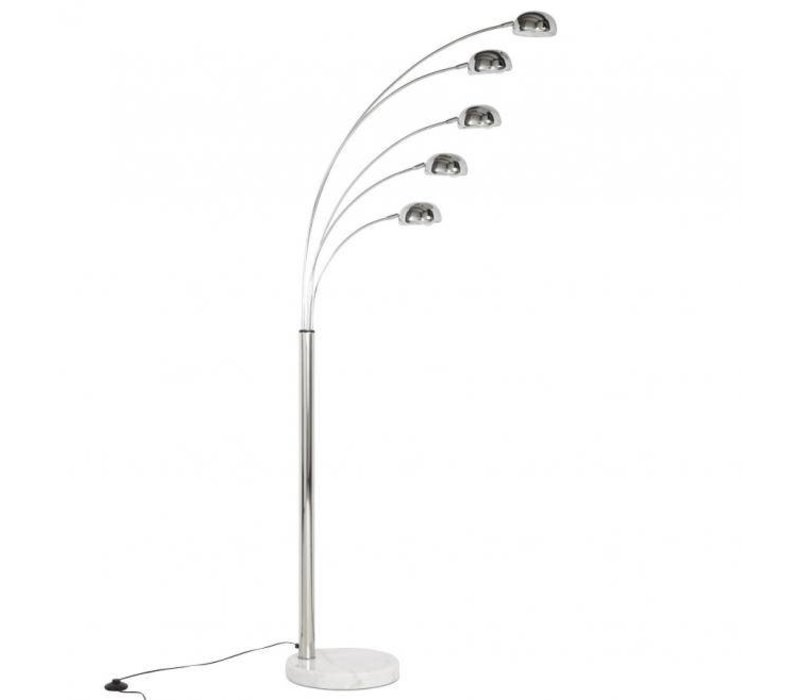 Vloerlamp Quinty Chroom