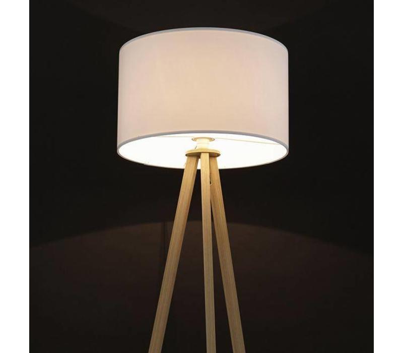 Vloerlamp Trivet Natuur / Wit