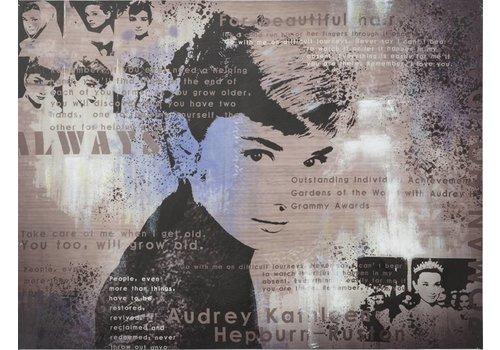 Schilderij Audrey Hepburn