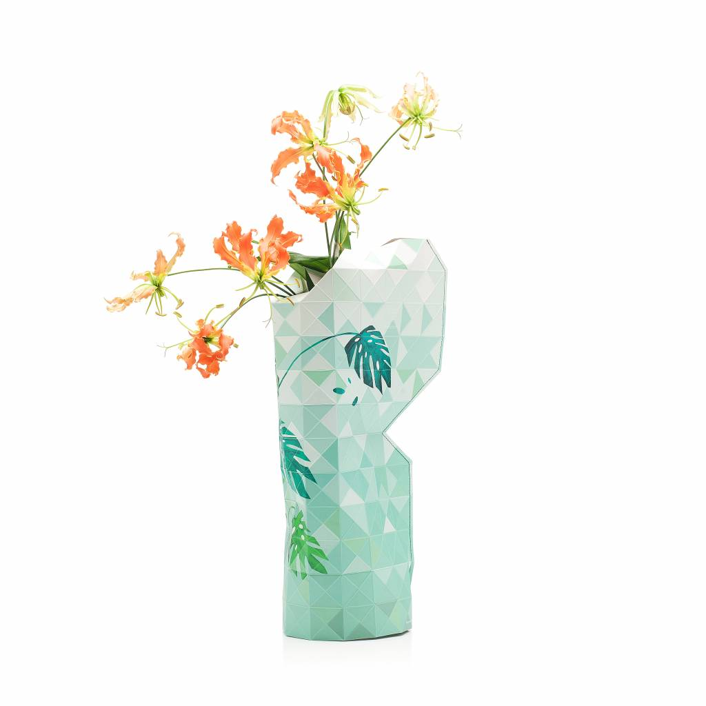 Paper Vase Cover Jungle Leaves-3