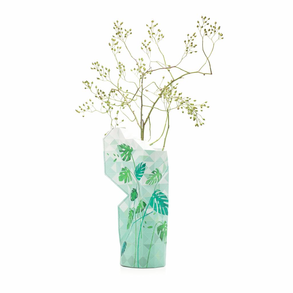 Paper Vase Cover Jungle Leaves-1