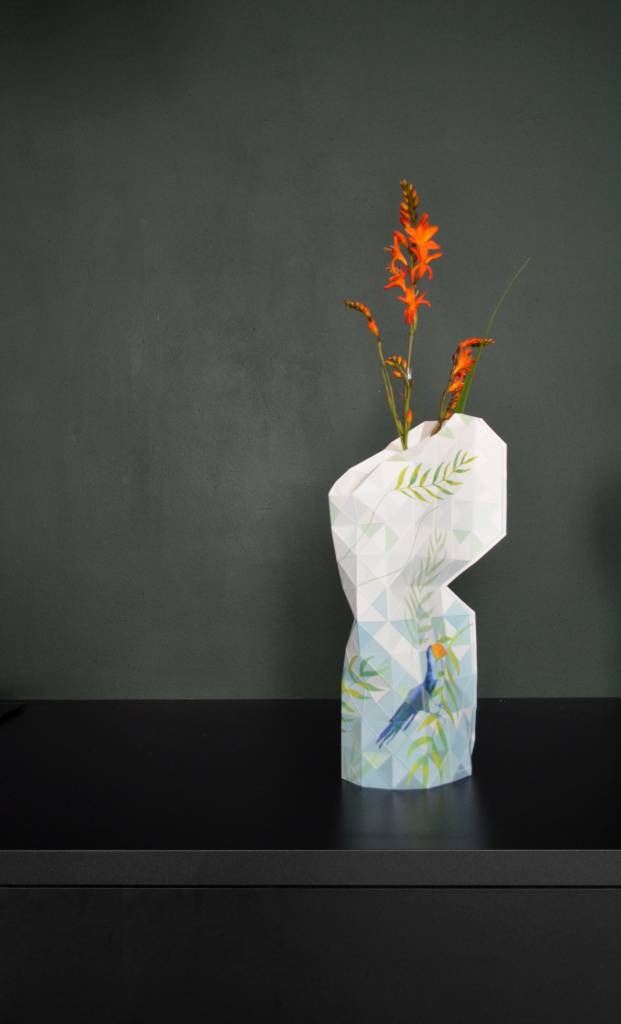 Paper Vase Cover Jungle Leaves-7