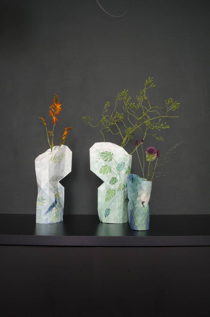 Paper Vase Cover Jungle Leaves-8