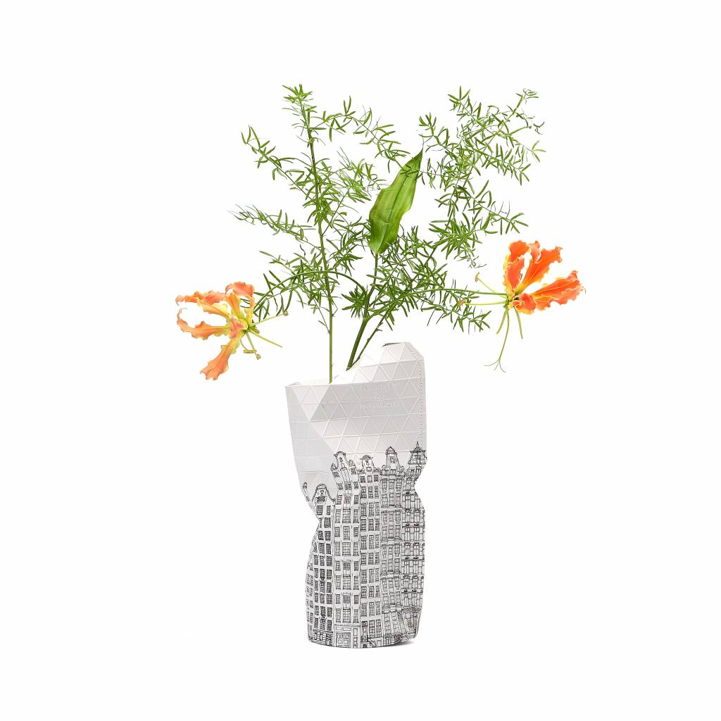 Paper Vase Cover Canal House (small)-1