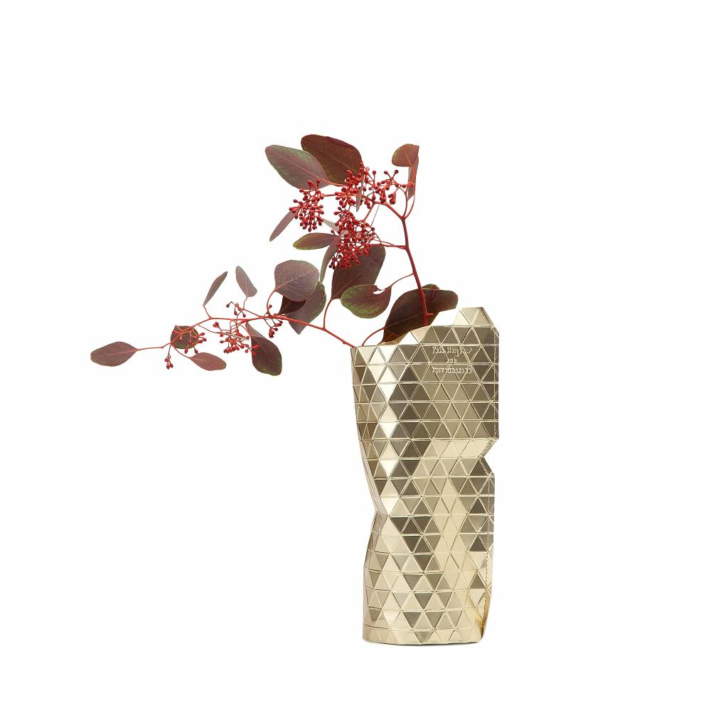 Paper Vase Cover Gold (small)-1
