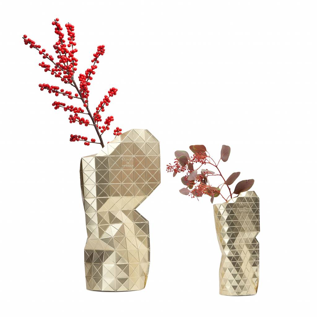 Paper Vase Cover Gold-2
