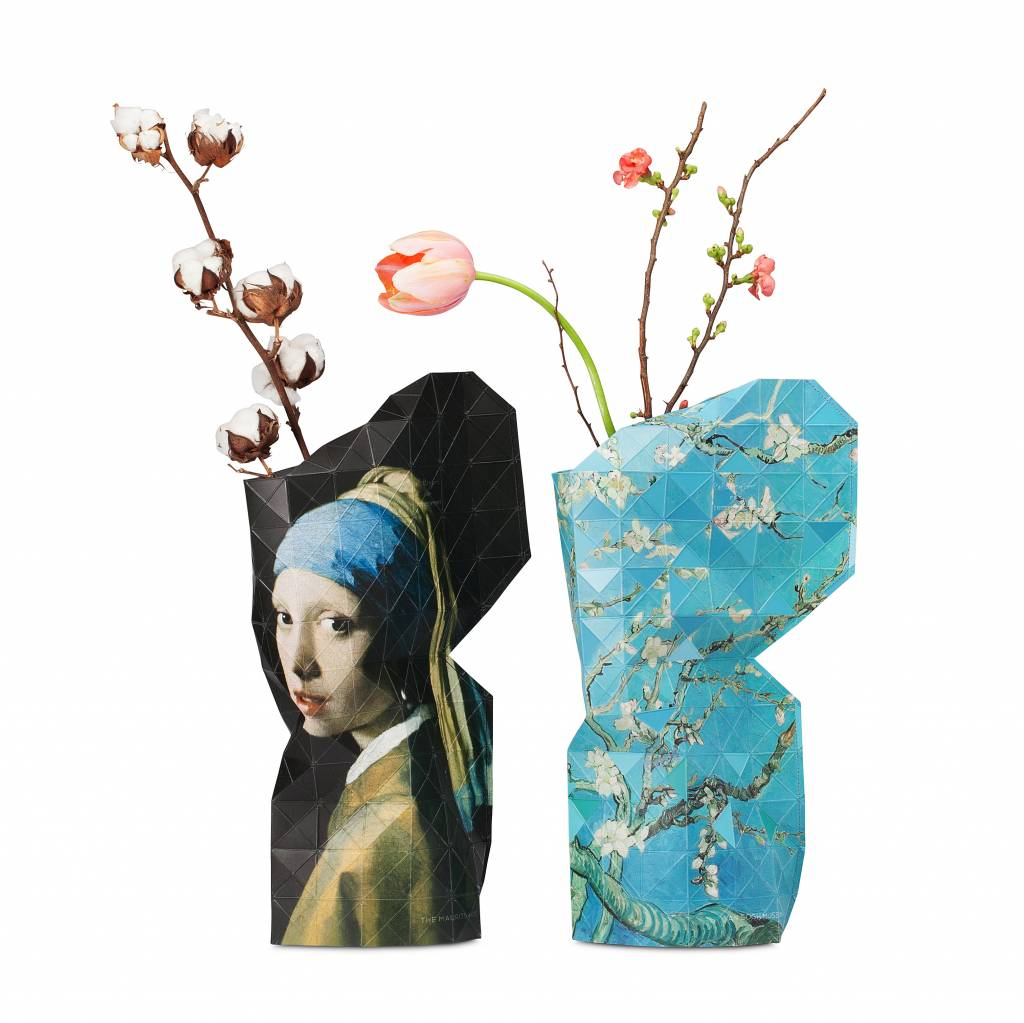 Paper Vase Cover Girl with a Pearl Earring-3