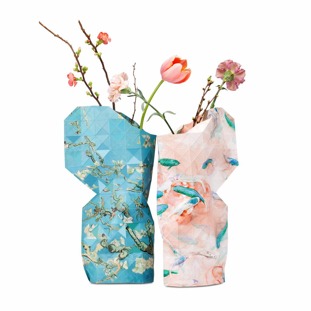 Paper Vase Cover  Pink Fish-3
