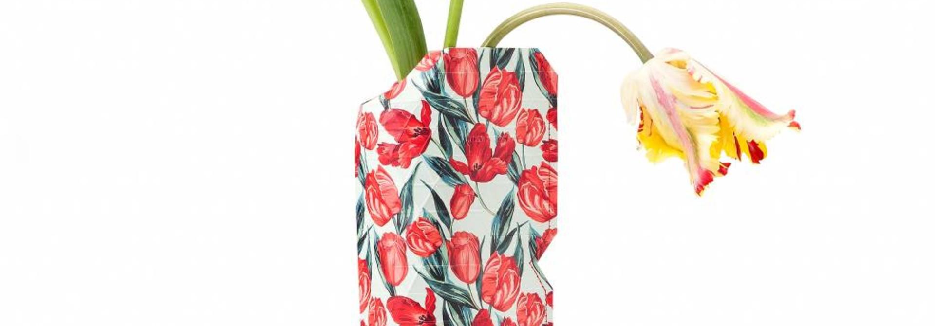 Papieren vaas Tulpen (small)
