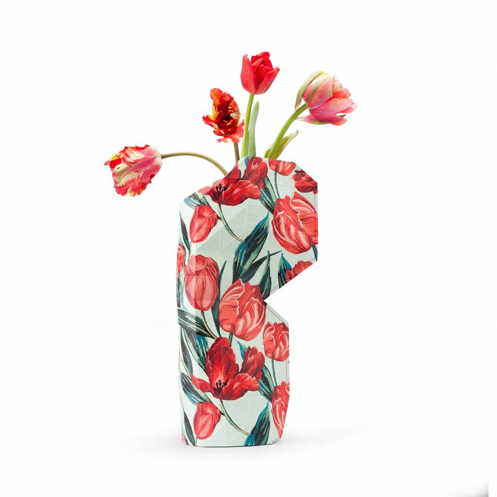 Paper Vase Cover Tulips-1