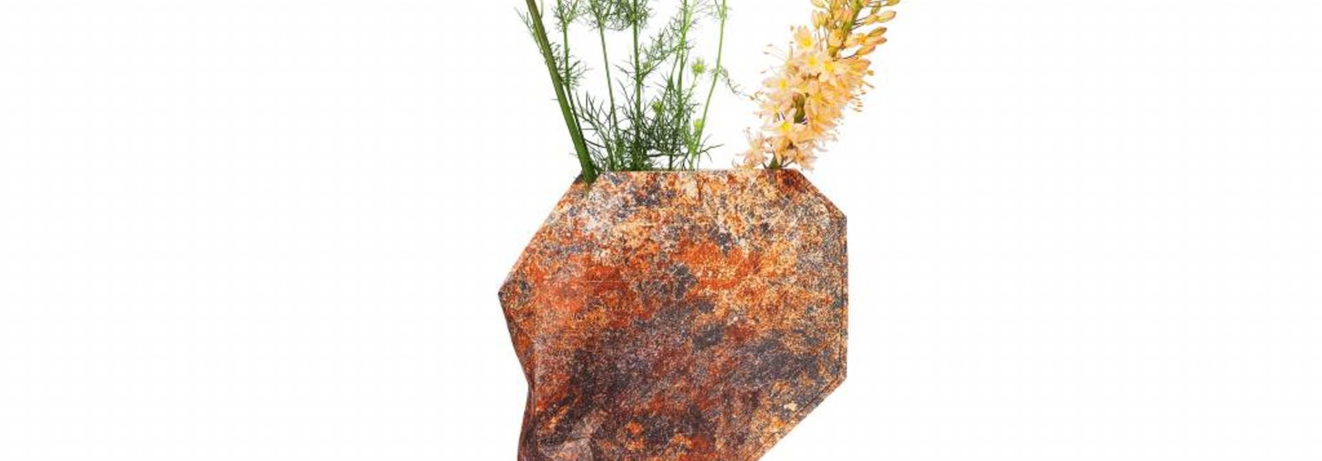 Paper Vase Cover Natural Stone