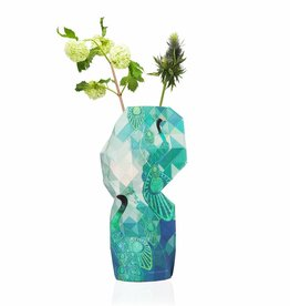 NEW: Paper Vase Cover Peacock
