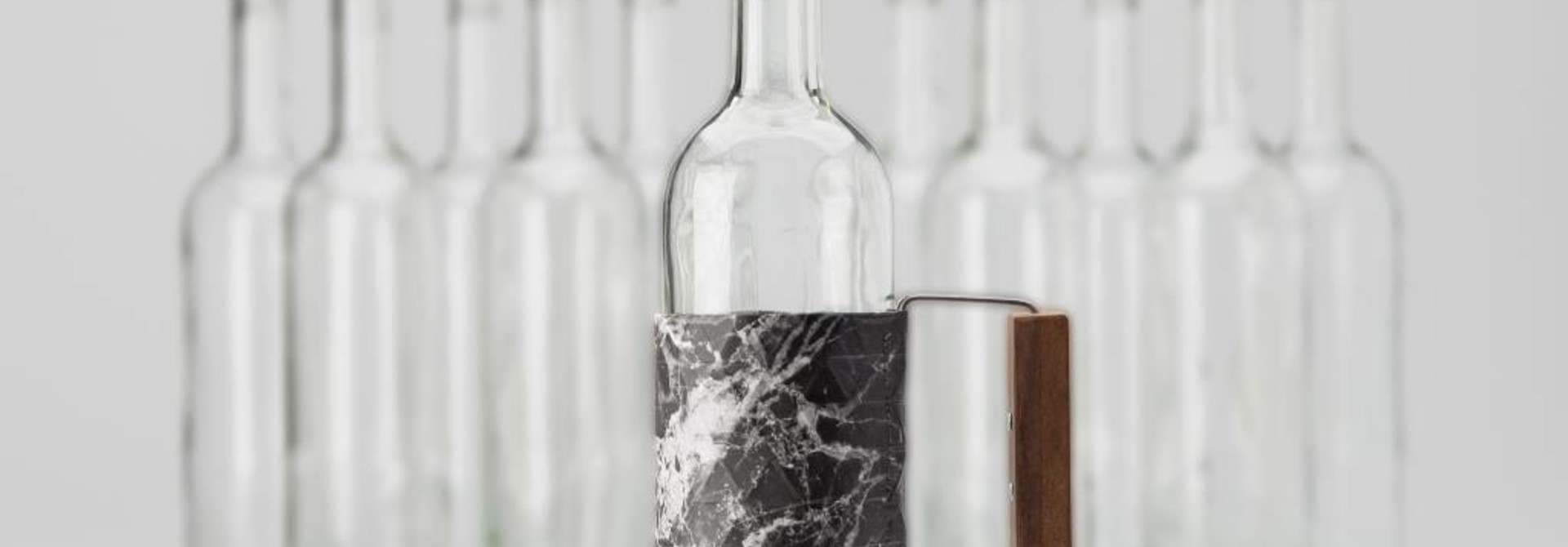 Bottle Grip Marble Black