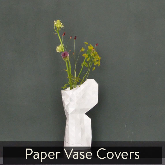 Paper vase covers