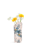Paper Vase Cover Pink Flowers (small)