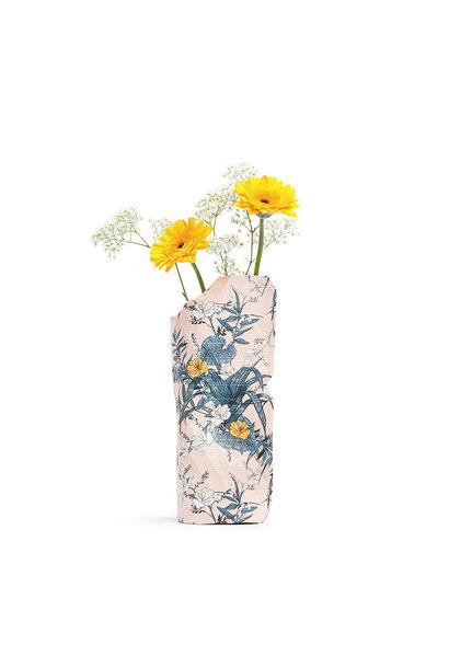 Papieren vaas Pink Flowers (small)