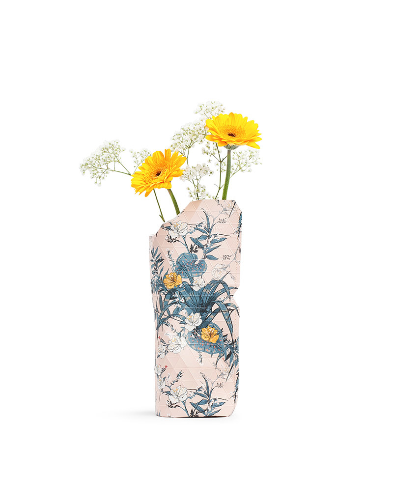 Paper Vase Cover Pink Flowers (small)-1