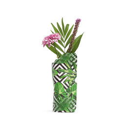 Paper Vase Cover Geo Jungle  (small)