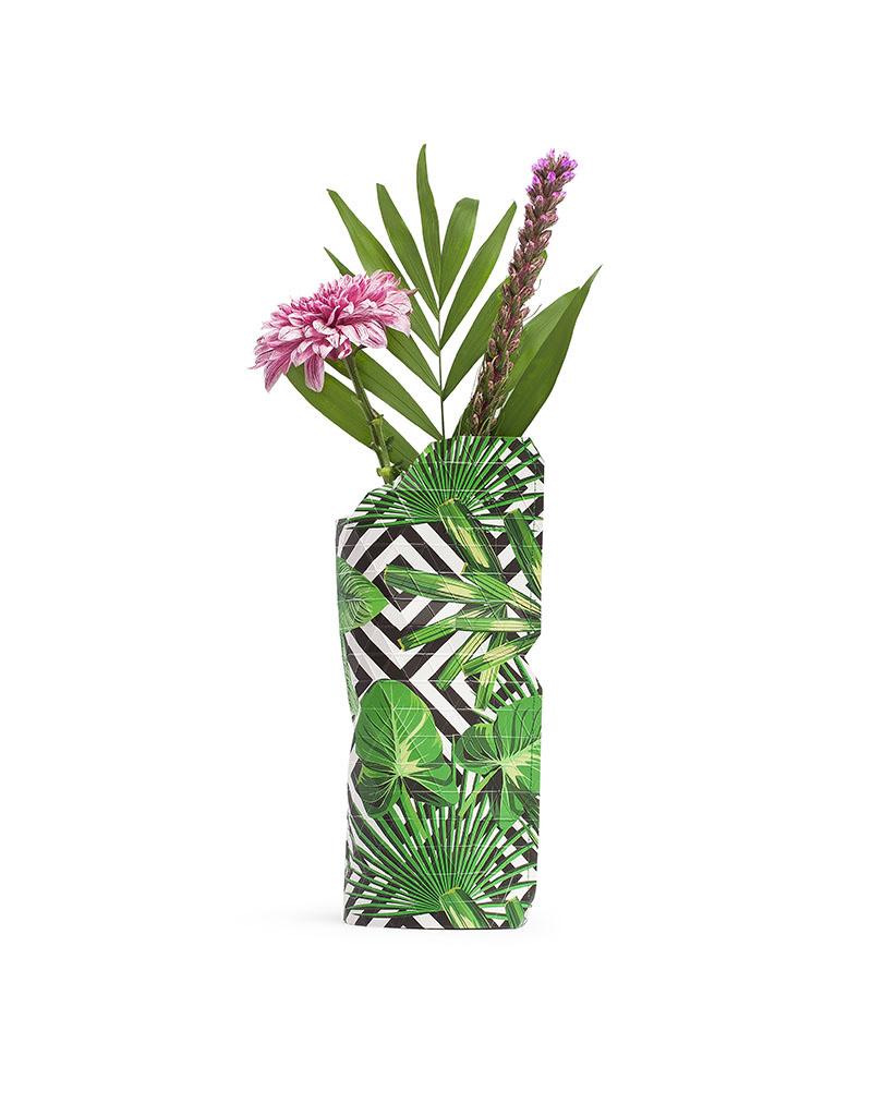 Paper Vase Cover Geo Jungle  (small)-1