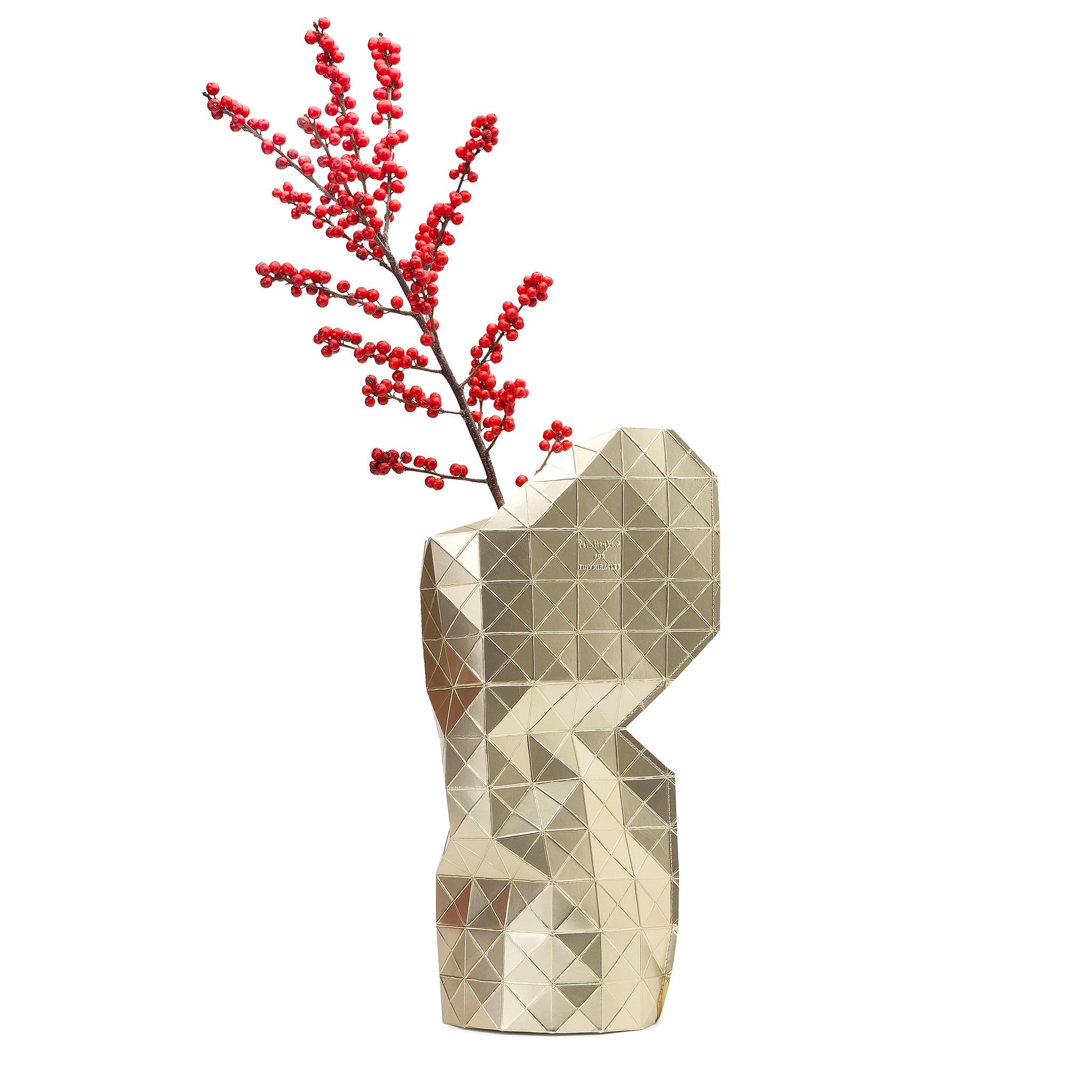 Paper Vase Cover Gold-1