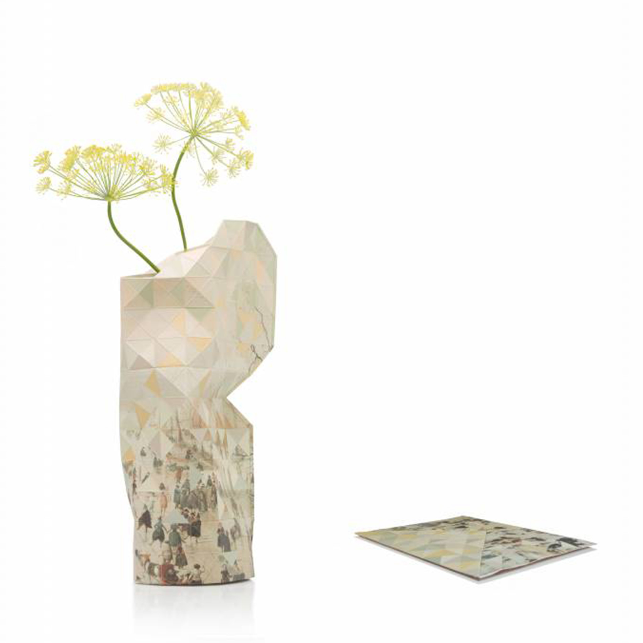 Paper Vase Cover Winter Landscape with Ice Skaters-2