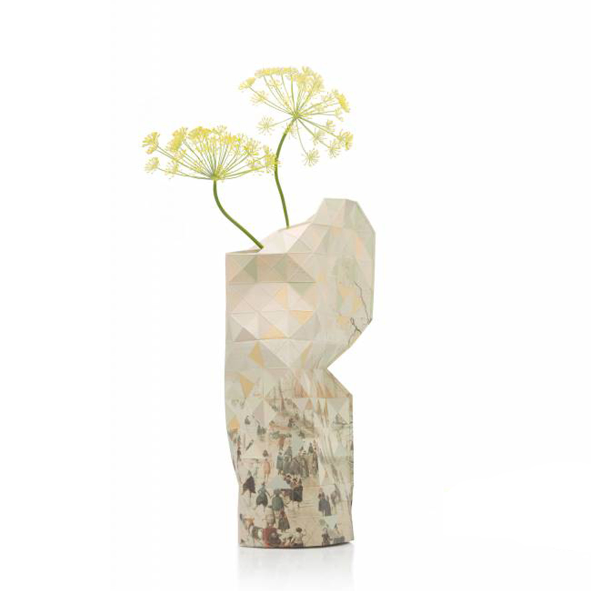 Paper Vase Cover Winter Landscape with Ice Skaters-1