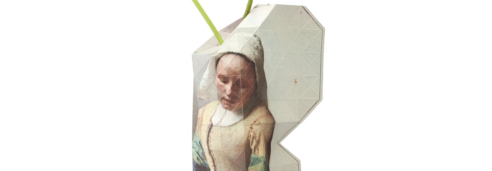 Papieren vaas het Melkmeisje Vermeer
