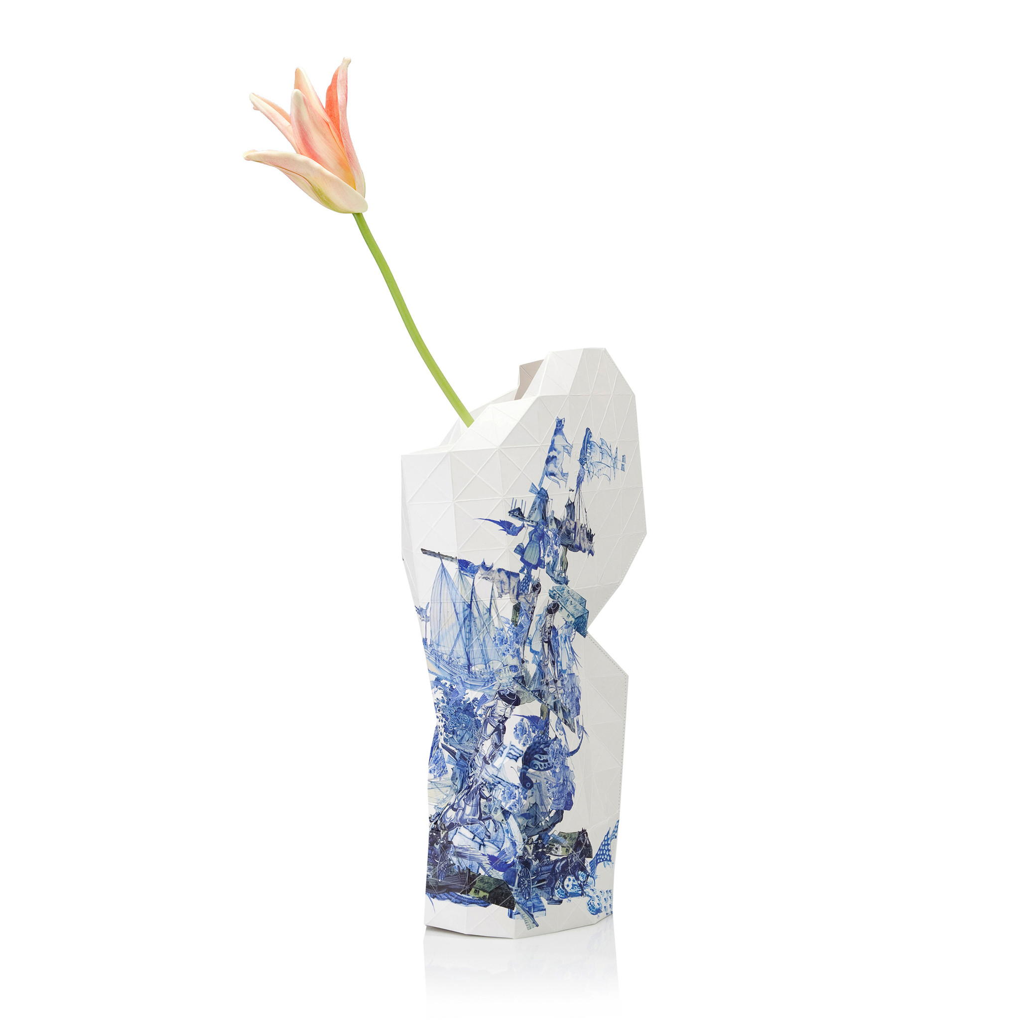 Paper Vase Cover Delft Blue Icons-1