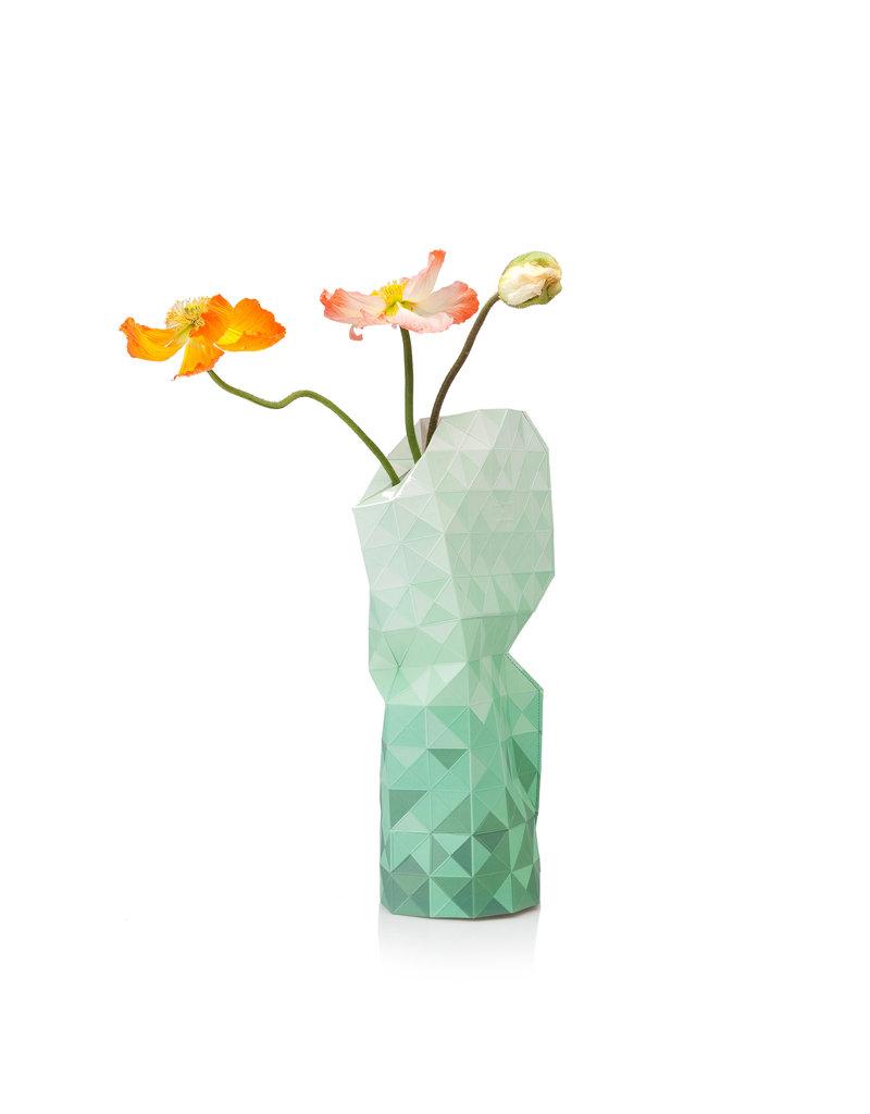 Paper Vase Cover Green Gradient