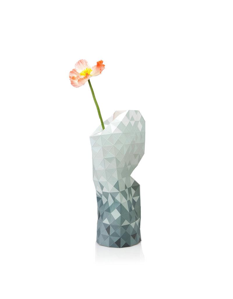 Paper Vase Cover Grey Gradient