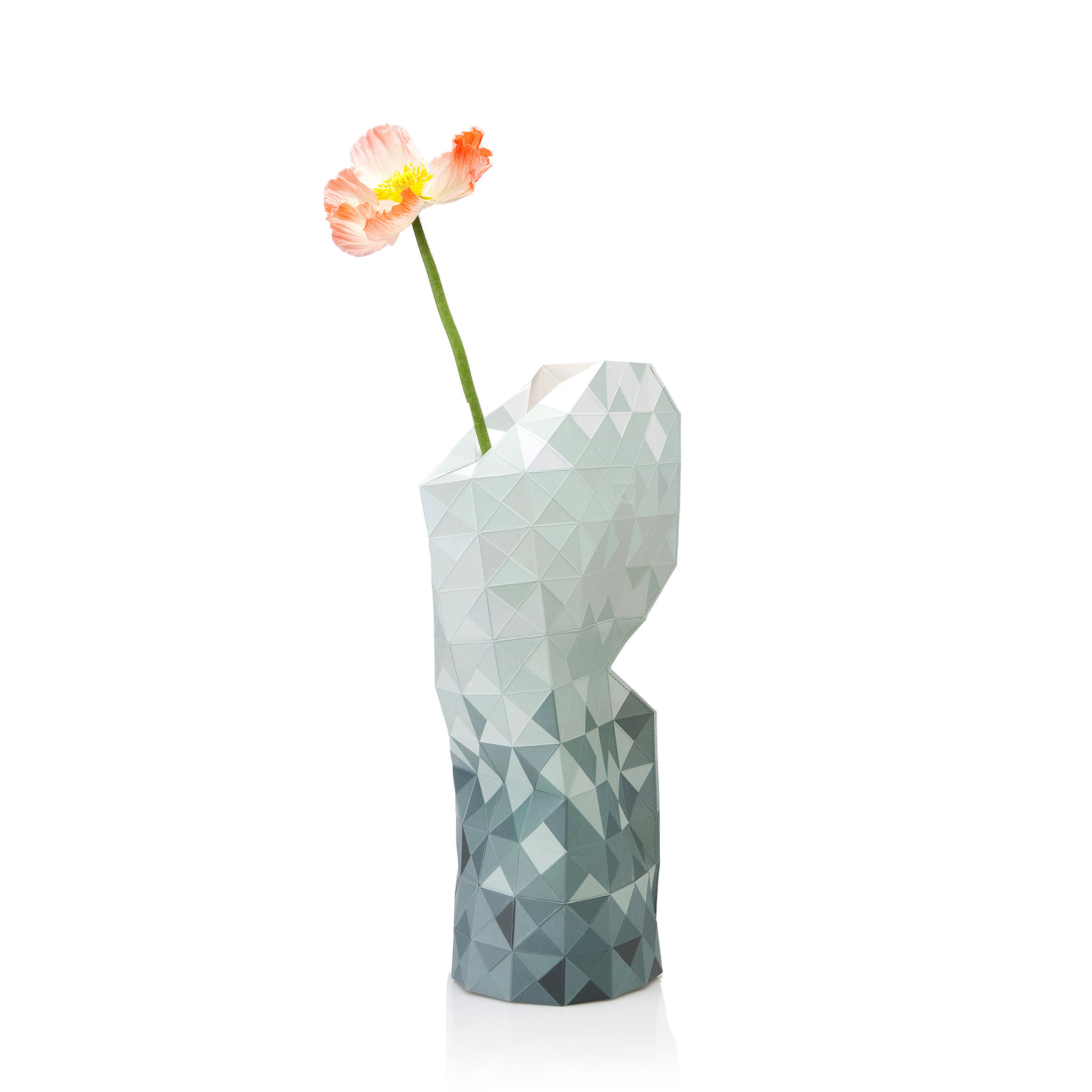 Paper Vase Cover Grey Gradient-1