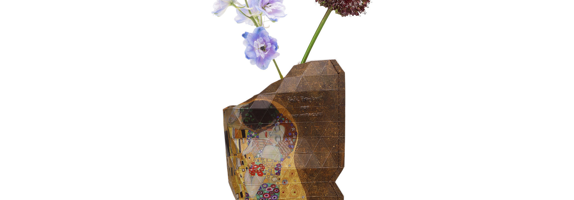 Paper Vase Cover The Kiss - Klimt (small)