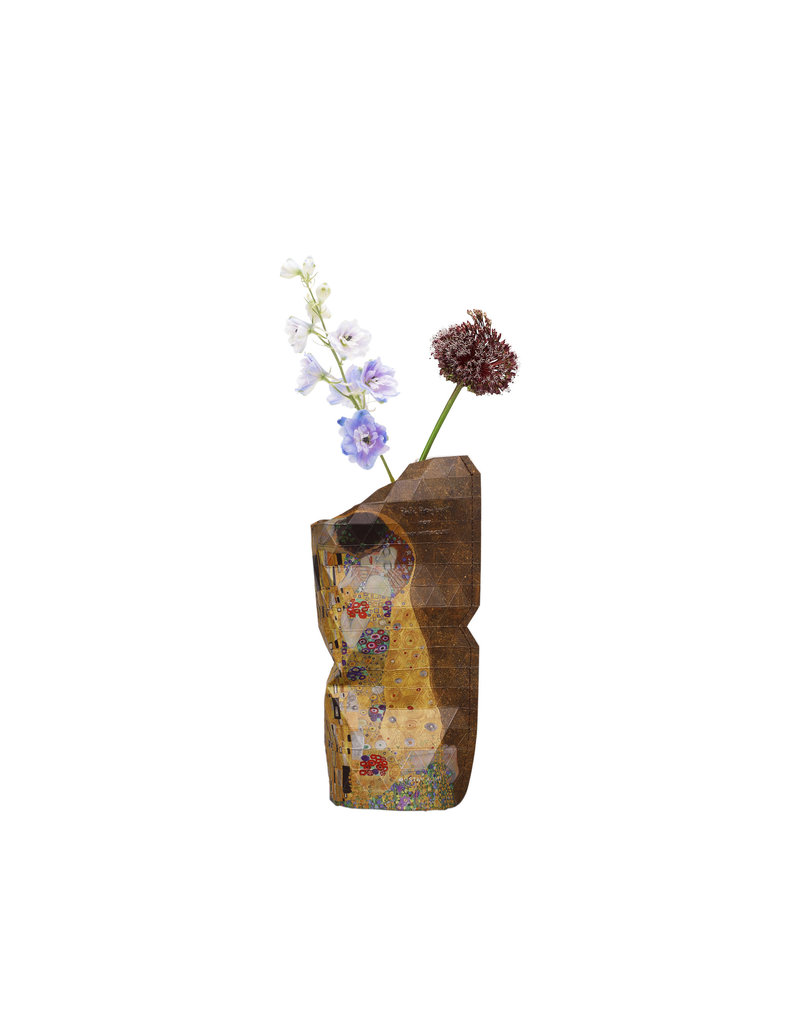 NEW: Paper Vase Cover The Kiss - Klimt (small)