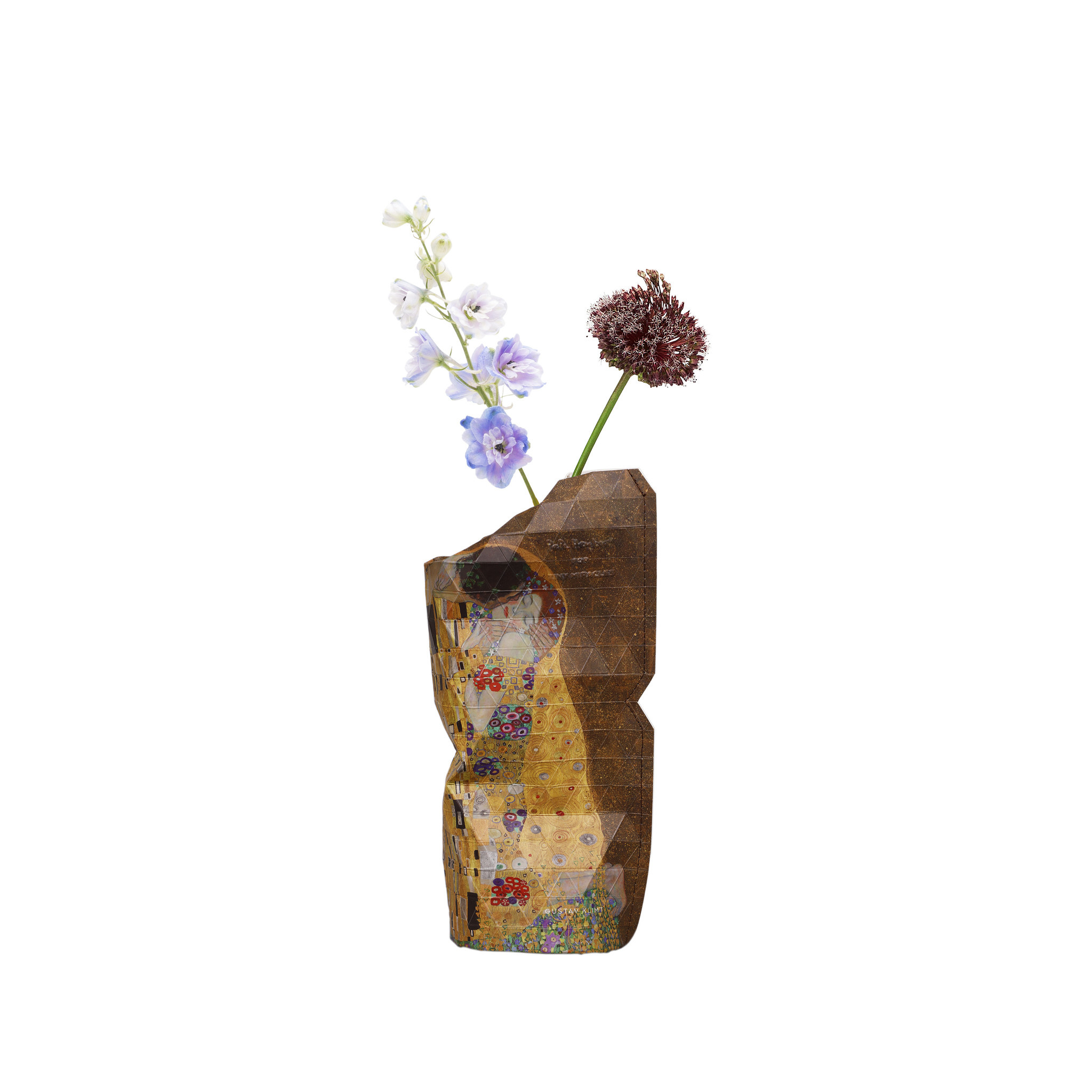 Paper Vase Cover The Kiss - Klimt (small)-1
