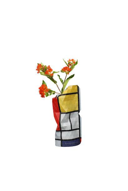 Papieren vaas Compositie Rood - Mondriaan (small)