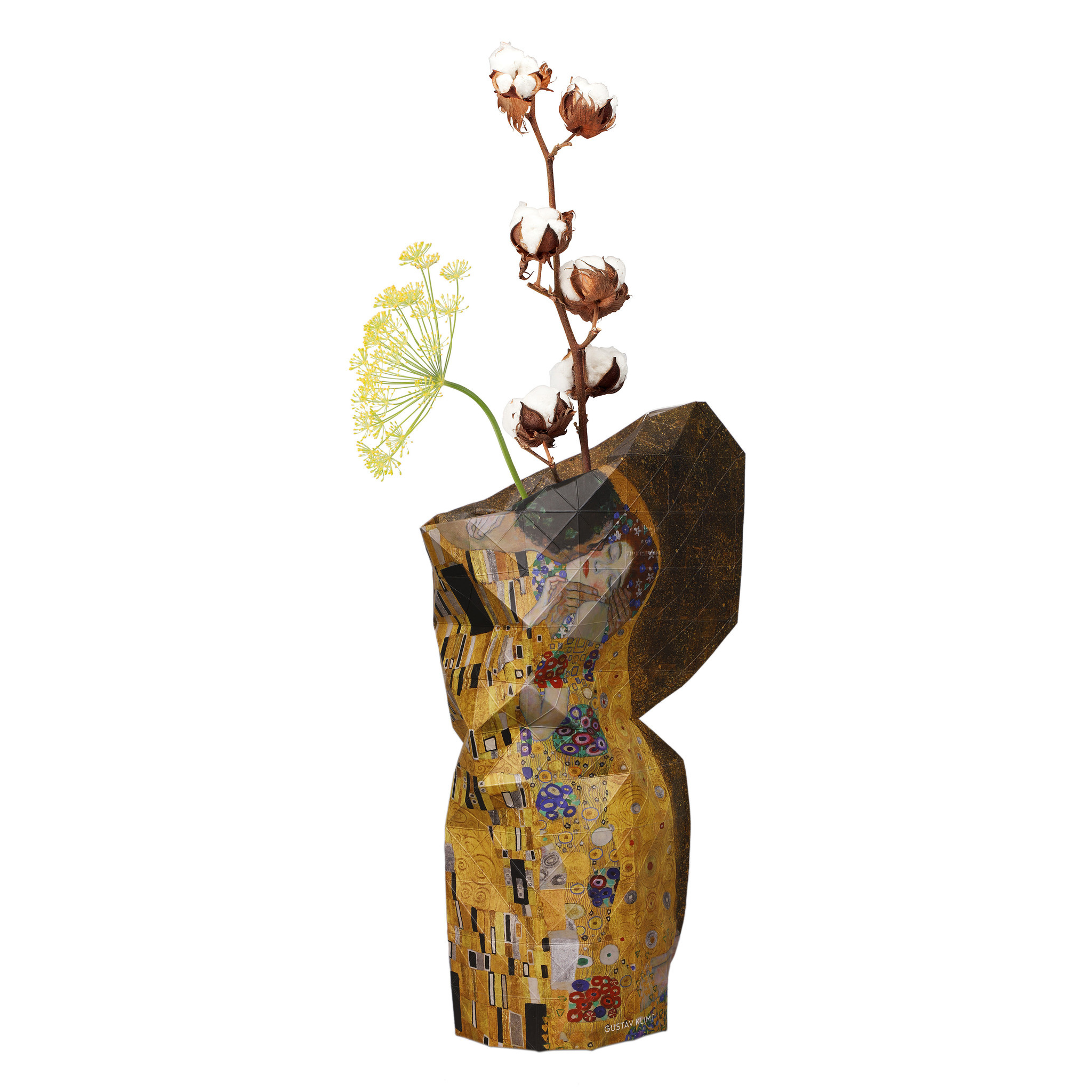 Paper Vase Cover The Kiss - Klimt-1