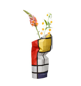Paper Vase Cover Composition Red- Mondriaan