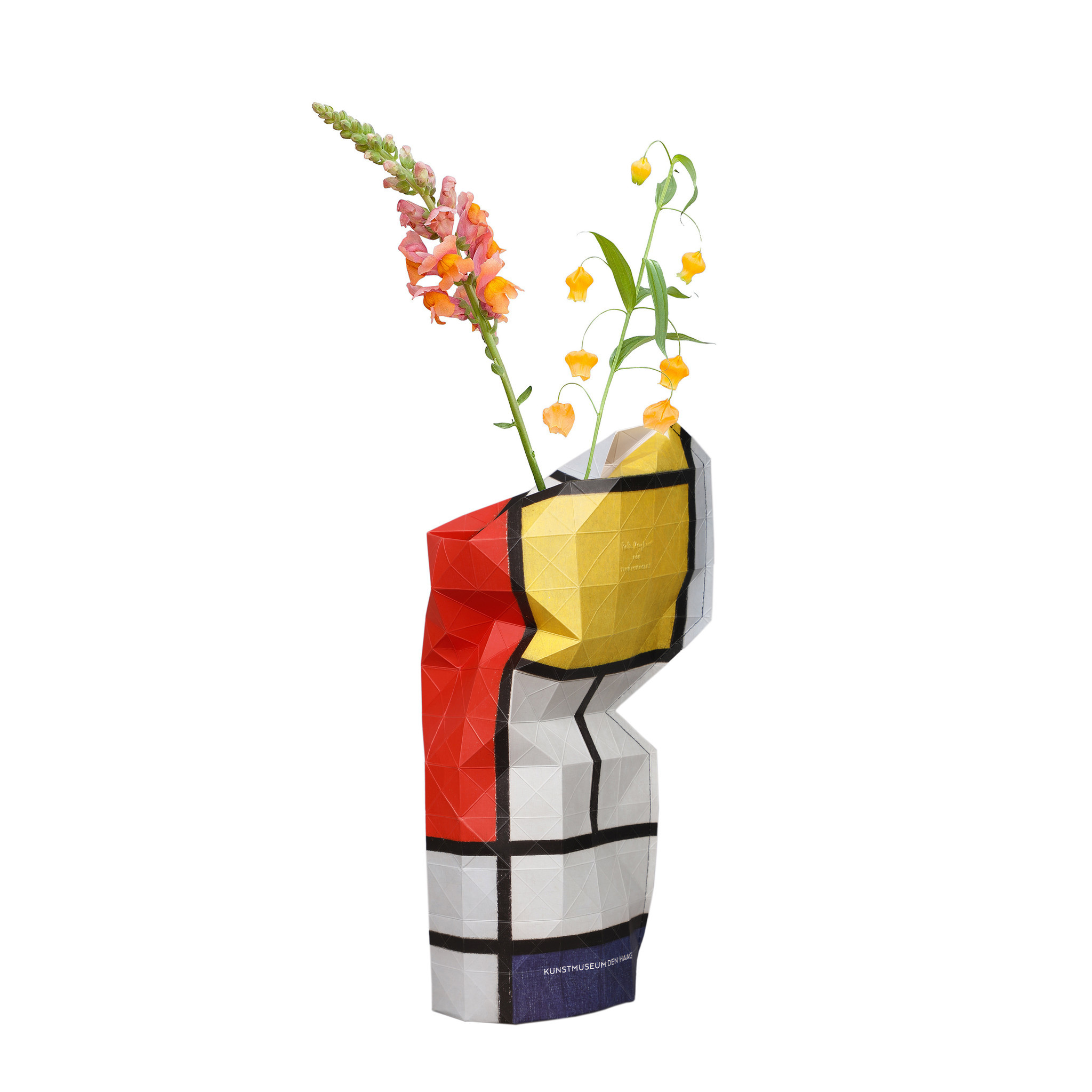Paper Vase Cover Composition Red- Mondriaan-1