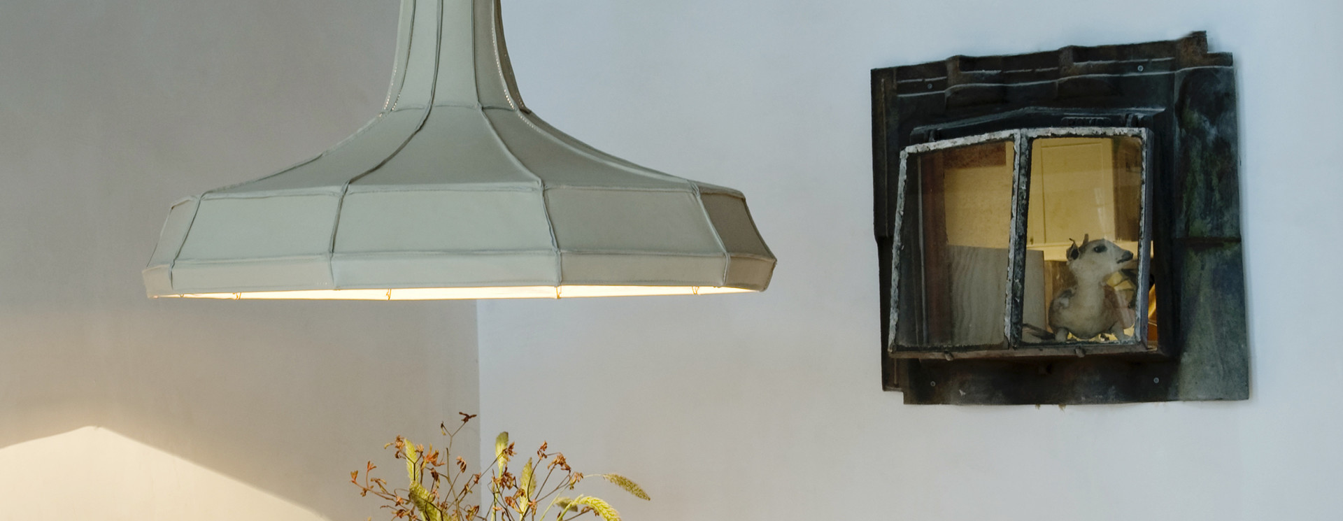 Paper and Leather Lampshades